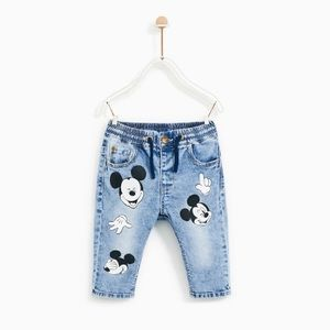 Zara Mickey Jeans